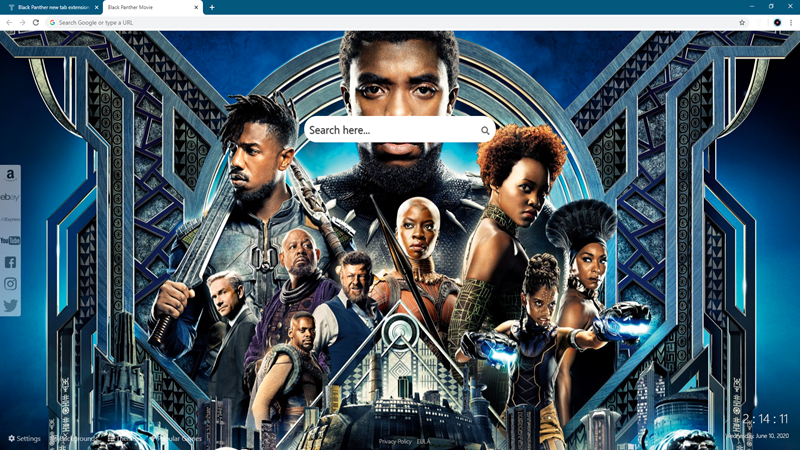 Black Panther New Tab Extension Wallpapers Theme World